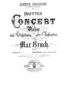 Violin Concerto No.3 in D Minor, Op.58: Solo part by Max Bruch