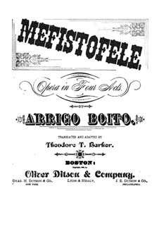 Mefistofele: Piano-vocal score by Arrigo Boito