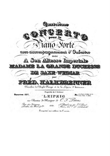 Piano Concerto No.4, Op.127: Piano Concerto No.4 by Friedrich Kalkbrenner