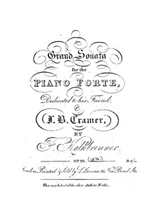 Piano Sonata in F Major, Op.28: For a single performer by Friedrich Kalkbrenner