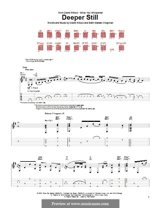 Deeper Still: For guitar with tab by Beth Nielsen Chapman
