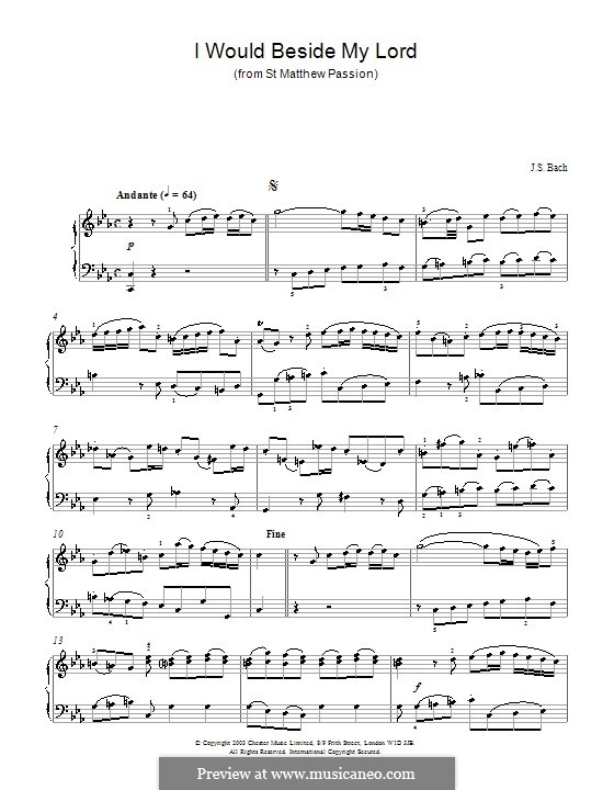 Part I: No.26, for piano by Johann Sebastian Bach