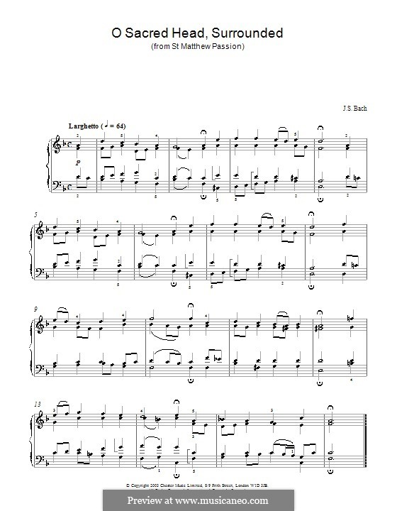 Part I: No.23 Choral, for piano by Johann Sebastian Bach