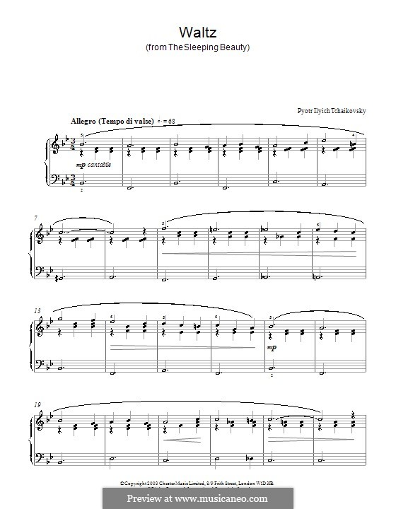 Waltz: For piano (Fragment) by Pyotr Tchaikovsky