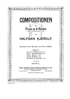 Polonaise for Piano Four Hands, Op.13: Polonaise for Piano Four Hands by Halfdan Kjerulf