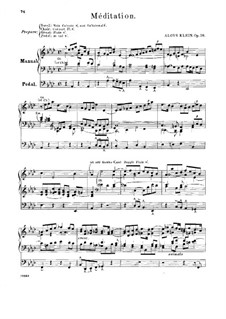 Méditation, Op.16: Méditation by Franz Aloÿs Klein