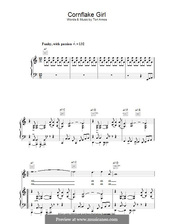 Cornflake Girl: For voice and piano (or guitar) by Tori Amos