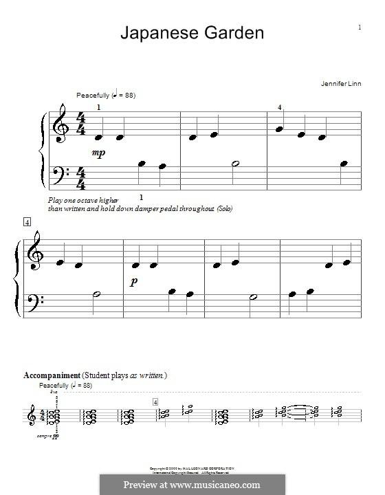 Japanese Garden: For piano by Jennifer Linn