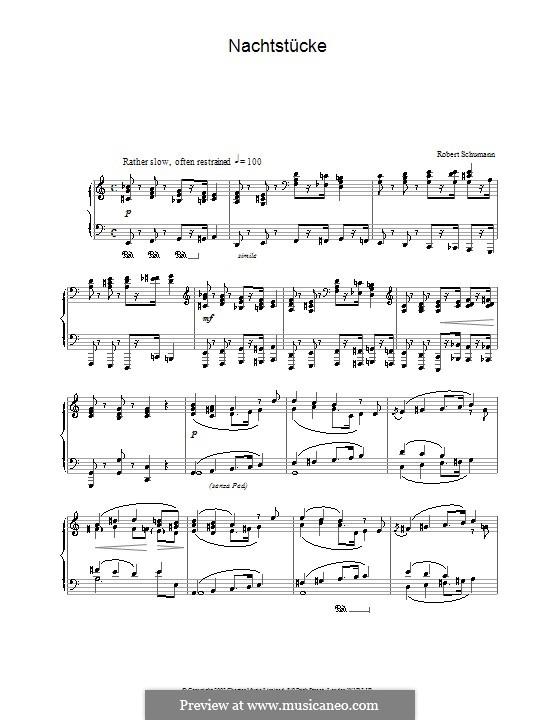 Night Pieces, Op.23: Piece No.1 by Robert Schumann