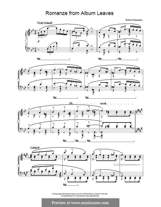 Album Leaves, Op.124: No.11 Romance by Robert Schumann