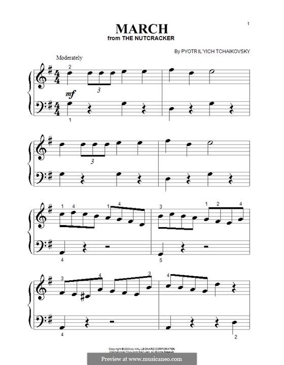 No.2 March: For piano (very easy version) by Pyotr Tchaikovsky