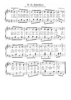 Hobellied: Singpartitur by Conradin Kreutzer