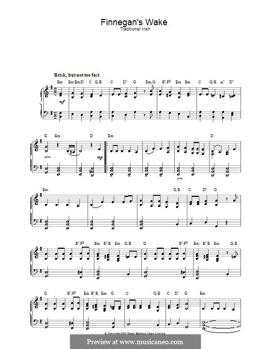 Finnegan's Wake: For piano by folklore