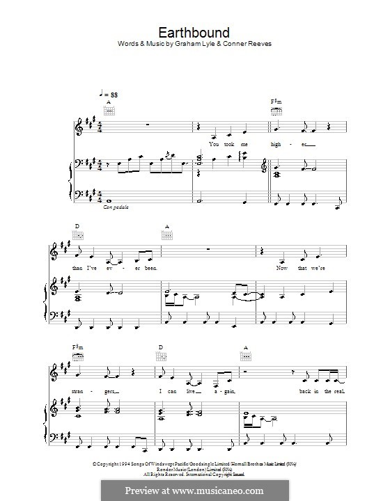 Earthbound: For voice and piano (or guitar) by Conner Reeves
