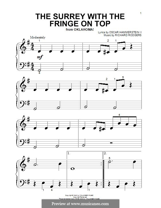 The Surrey with the Fringe on Top: For voice (very easy version) by Richard Rodgers
