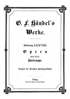 Partenope, HWV 27: Full score by Georg Friedrich Händel