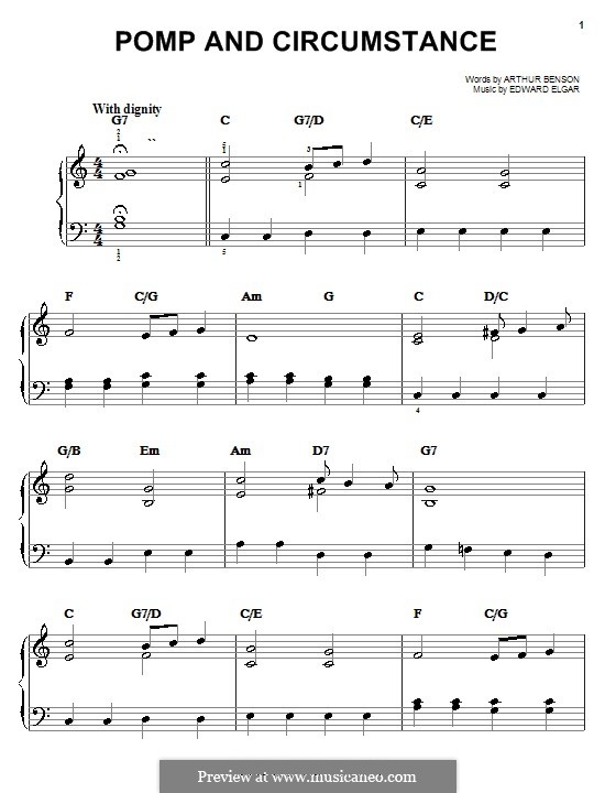 March No.1: For easy piano by Edward Elgar