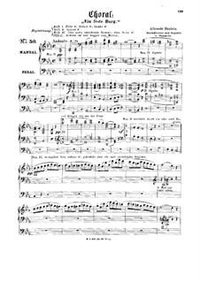 Choral 'Ein feste Burg': Choral 'Ein feste Burg' by Albrecht Hänlein