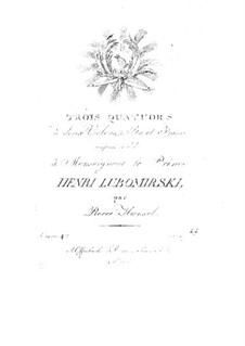 Three String Quartets, Op.4: Three String Quartets by Peter Hänsel