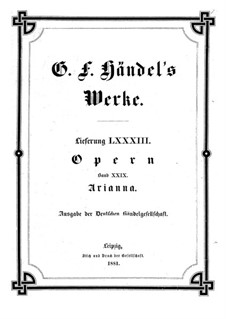 Ariadne in Crete, HWV 32: Full score by Georg Friedrich Händel