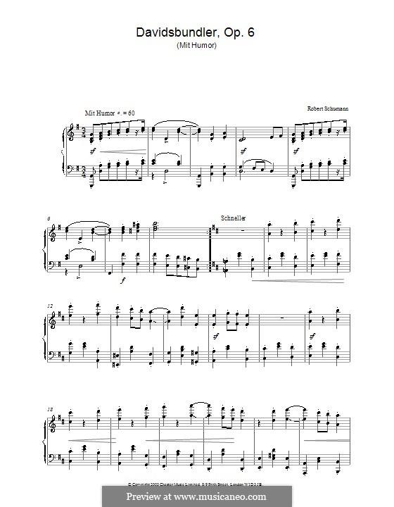 Dances of the League of David, Op.6: No.3 by Robert Schumann