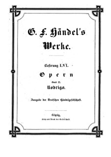 Rodrigo, HWV 5: Full score by Georg Friedrich Händel