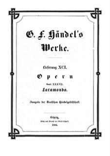 Pharamond, HWV 39: Full score by Georg Friedrich Händel