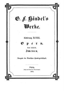 Imeneo, HWV 41: Imeneo by Georg Friedrich Händel