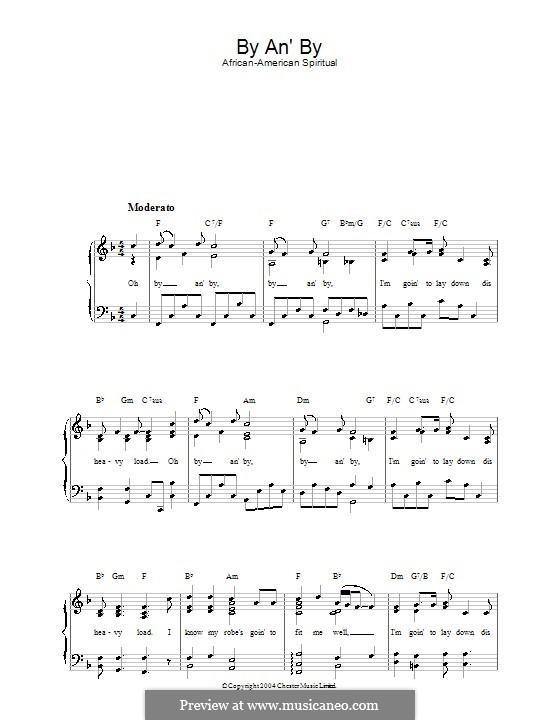By an' By: For voice and piano by folklore