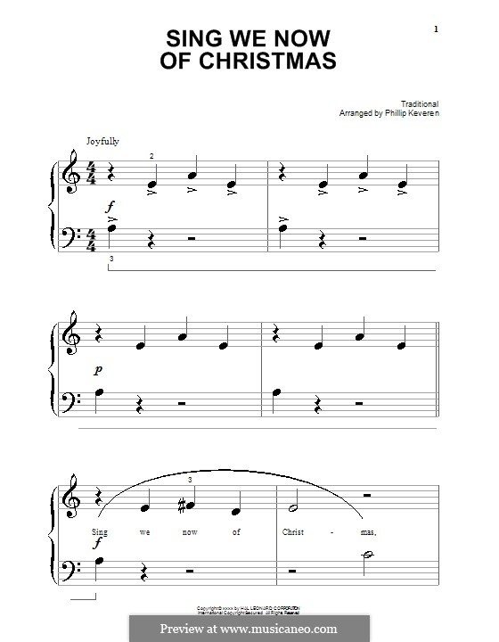 Sing We Now of Christmas (from Morning Star): For piano by folklore