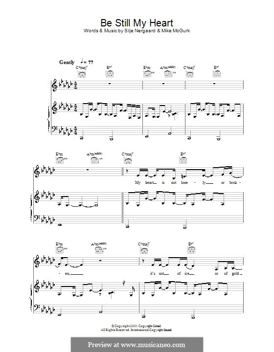 Be Still My Heart: For voice and piano (or guitar) by Mike McGurk, Silje Nergaard