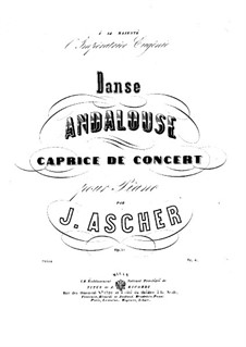 Danse Andalouse, Op.30: For piano by Joseph Ascher