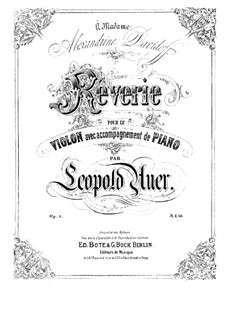 Rêverie, Op.3: Rêverie by Leopold Auer