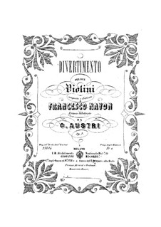 Divertimento for Two Violins, Op.7: Divertimento for Two Violins by Giuseppe Austri