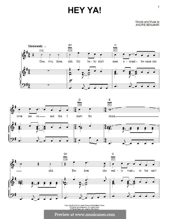 roses outkast piano sheet music