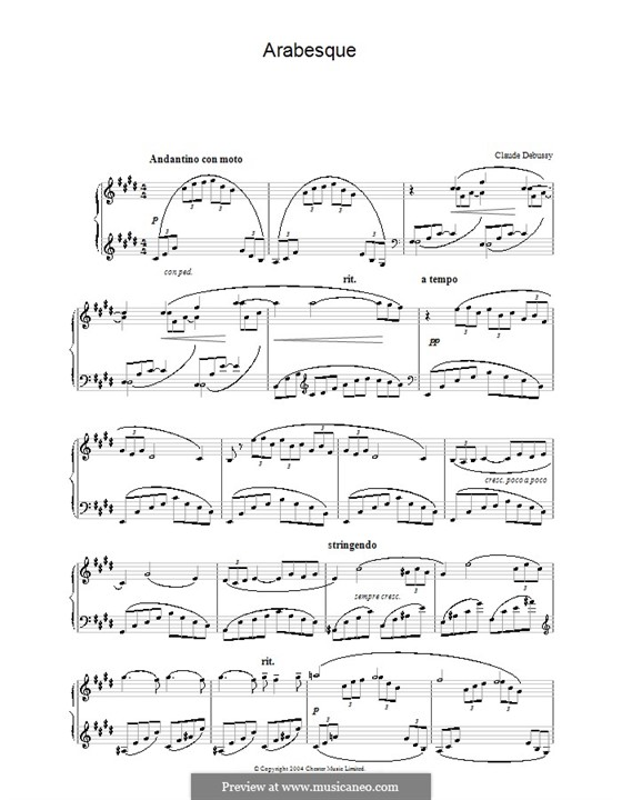 Two Arabesque, L.66: Arabesque No.1 by Claude Debussy