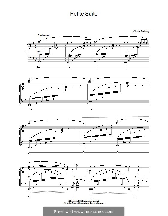 Petite suite, L.65: For piano by Claude Debussy