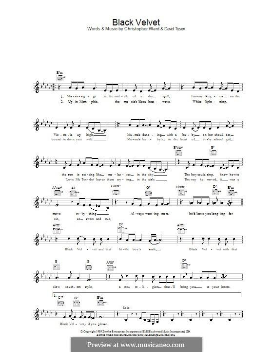 Black Velvet Alannah Myles By C Ward D Tyson On Musicaneo
