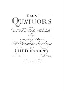 Two String Quartets, Op.12: Two String Quartets by Friedrich Dotzauer