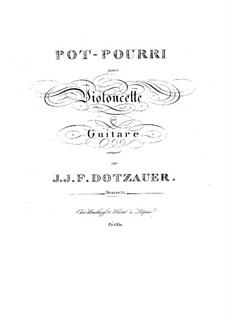 Potpourri for Cello and Guitar, Op.21: Parts by Friedrich Dotzauer