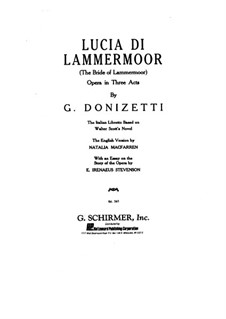 Lucia di Lammermoor: Piano-vocal score by Gaetano Donizetti