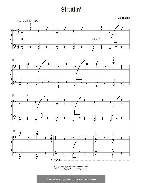 Struttin': Für Klavier by Bruce Berr