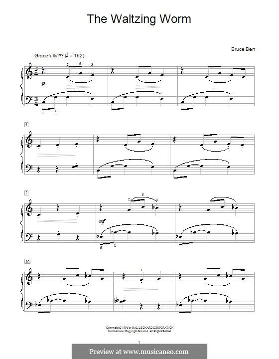 The Waltzing Worm: Für Klavier by Bruce Berr