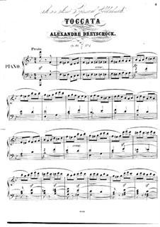 Toccata für Klavier, Op.98 No.1: Toccata für Klavier by Alexander Dreyschock