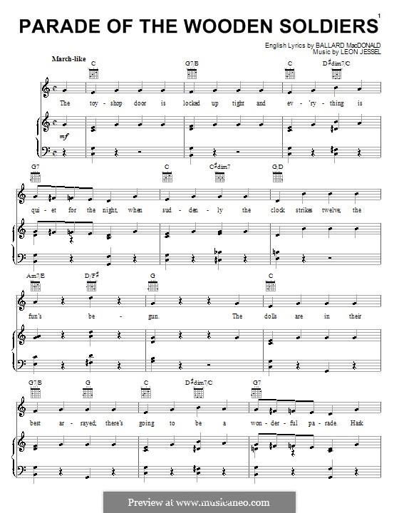 Parade of the Wooden Soldiers: Für Stimme und Klavier (oder Gitarre) by Leon Jessel
