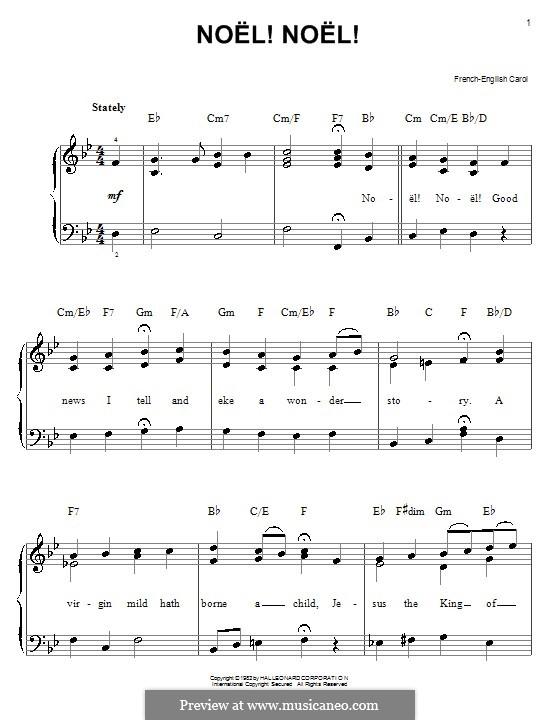 Noel! Noel!: Für Klavier, leicht by folklore