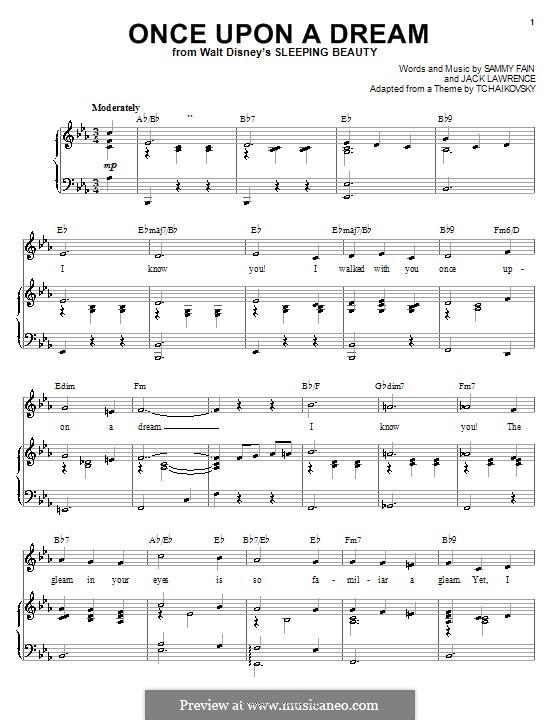 Once upon a Dream: Für Stimme und Klavier (oder Gitarre) by Jack Lawrence, Sammy Fain