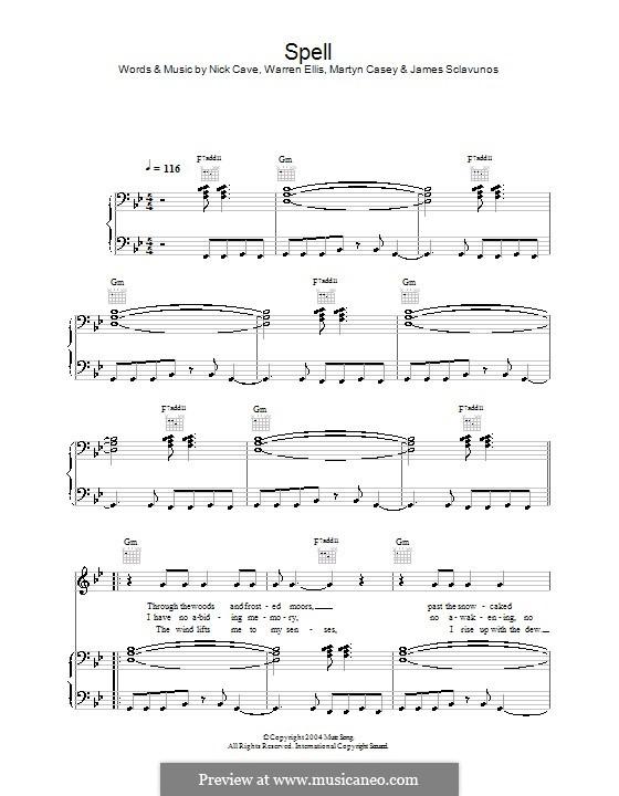 Spell: Für Stimme und Klavier (oder Gitarre) by Martyn Casey, Warren Ellis