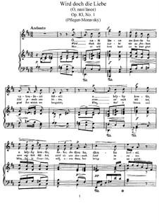 Písně milostné, B.160 Op.83: Písně milostné by Antonín Dvořák