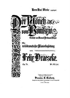 Der Mönch von Bonifazio, Op.74: Der Mönch von Bonifazio by Felix Draeseke